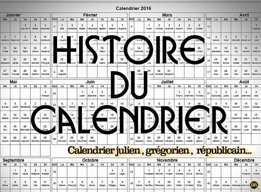 histoire du calendrier. Black Bedroom Furniture Sets. Home Design Ideas