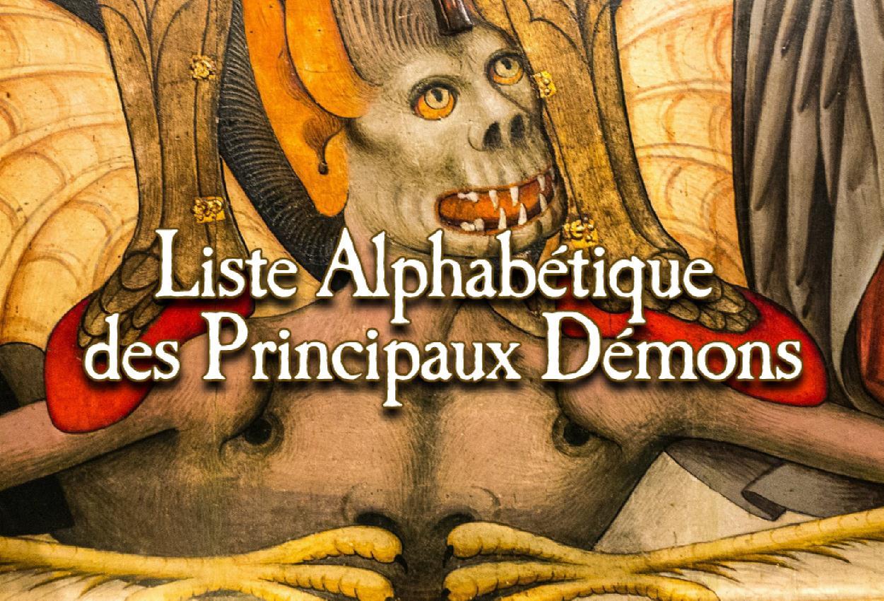 Liste alphabétique des principaux démons